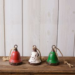 Rustic Holiday Bells, Set of 3
