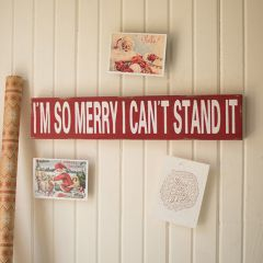 Rustic I'm So Merry Wall Sign