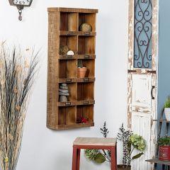 Rustic Label Wall Shelf