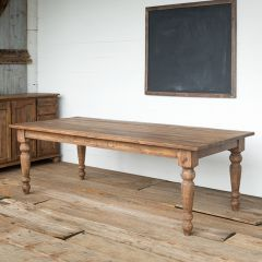 Rustic Old Pine Farm Table