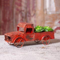 Rustic Old Red Metal Truck