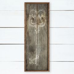 Rustic Scroll Key Framed Wall Art