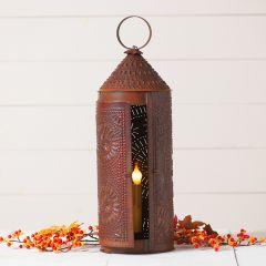 Rustic Tin Chimney Candle Lantern