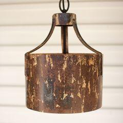 Rustic Weathered Metal Pendant Light