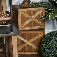 Rustic Wood Box Planter Set of 3