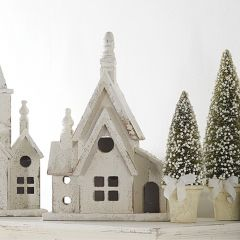 Rustic Wood Church With Gable