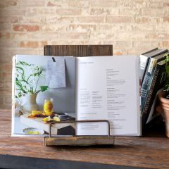 Rustic Wood Cookbook Stand