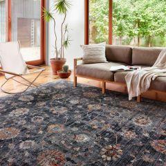 Samra Collection Charcoal/Multi Rug