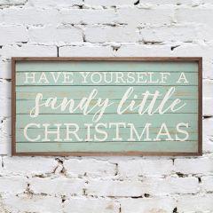 Sandy Christmas Wall Sign