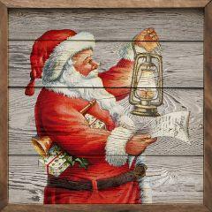 Santa Claus Lantern Wall Art
