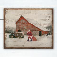 Santa On The Farm Rustic Holiday Wall Decor