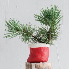 Santa Sack Planter Pot, Set of 6