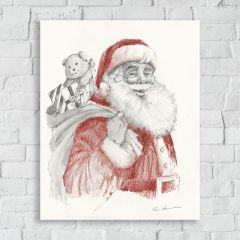 Santa Sketch Wall Art