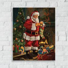 Santa With Stocking Wall Art