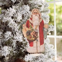 Santa With Toys Vintage Inspired Dummy Board