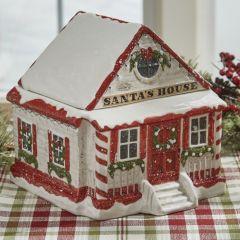 Santas House Cookie Jar