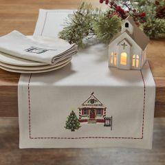 Santas House Holiday Table Runner