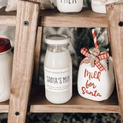 Scented Milk Bottle Candle