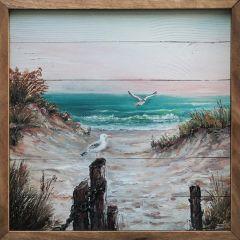 Seagulls On The Beach Wall Art