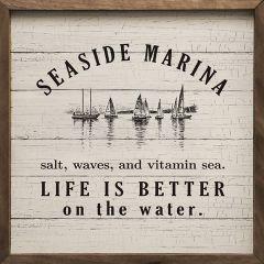 Seaside Marina Framed Wall Decor