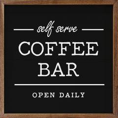 Self Serve Coffee Bar Black Framed Sign