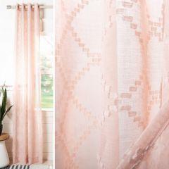 Semi Sheer Blush Curtain Panel