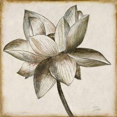 Sepia Tone Floral Wall Art