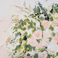 Shades of Peach Floral Canvas Wall Art