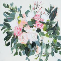 Shades of Pink Floral Canvas Wall Art