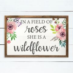 She Is A Wildflower Framed Wall Decor