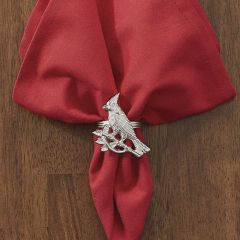 Silver Finished Cardinal Napkin Ring Bundle