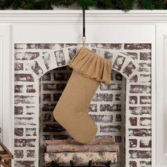 Simple Burlap Ruffled Stocking