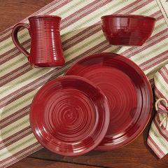 Simple Ceramic Ribbed Dinner Plate Bundle