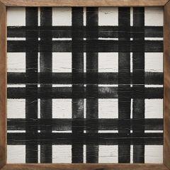 Simple Plaid Square Wall Art