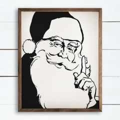 Simple Santa Framed Wall Decor