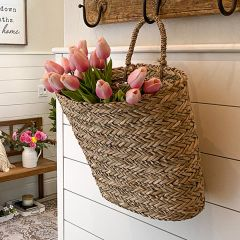 Simple Seagrass Wall Basket, Set of 2