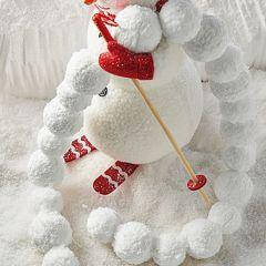Simple Snowball Garland Set of 2