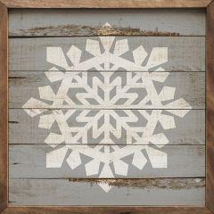 Simple Snowflake Wall Art