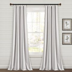 Simple Stripes Window Curtain Panel Set of 2