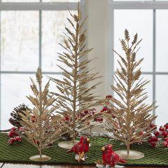 Simplistic Gold Metal Tabletop Tree