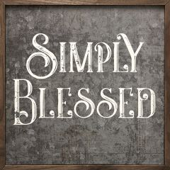 Simply Blessed Tin Wall Sign