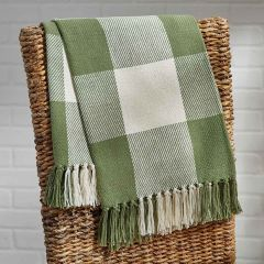 Simply Sage Check Throw Blanket
