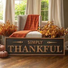 Simply Thankful Farmhouse Sign