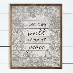 Sing of Peace Wall Art