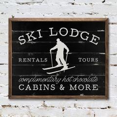 Ski Lodge Wall Sign