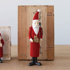 Skinny Sophisticated Santa With Gifts