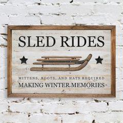 Sled Rides Framed Seasonal Wall Decor