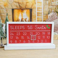 Sleeps Til Santa Countdown Calendar