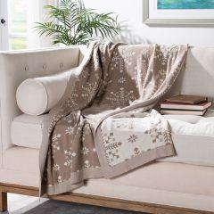 Snowflake Cotton Throw Blanket