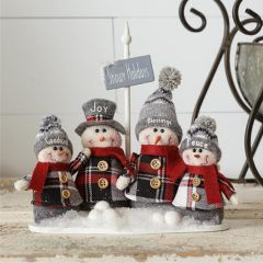 Snowman Group Figurine